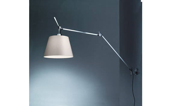 Tolomeo Mega Wall 14 In Parchment Shade Design Within