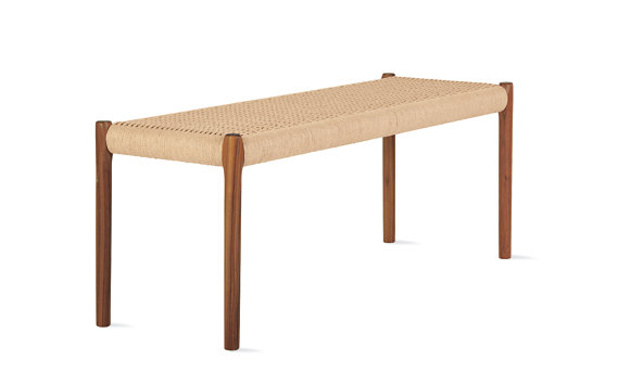 Moller Model 63A Bench with Natural Woven Seat