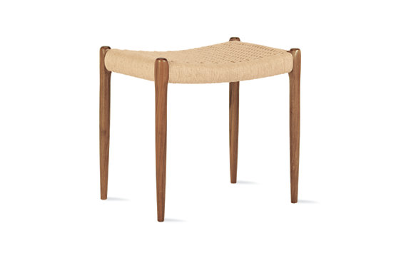 Moller Model 80A Stool with Natural Woven Seat
