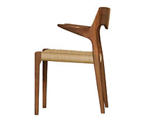 Møller Model 55 Armchair with Natural Woven Seat