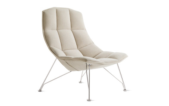 Jehs and Laub Lounge, Wire Base – Fabric