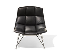 Jehs and Laub Lounge, Wire Base – Leather