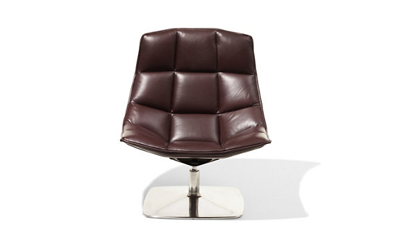 Jehs and Laub Lounge, Pedestal Base – Leather