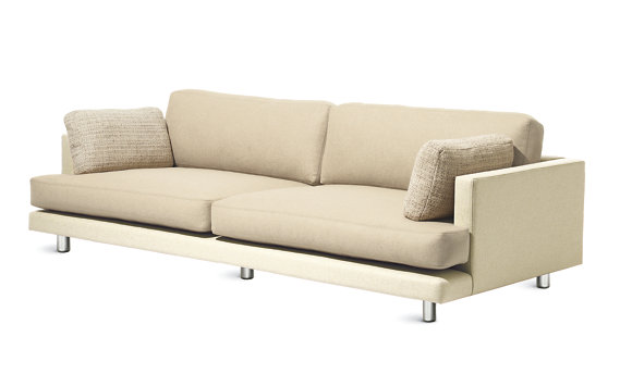 D%27Urso Sofa in Leather and Fabric