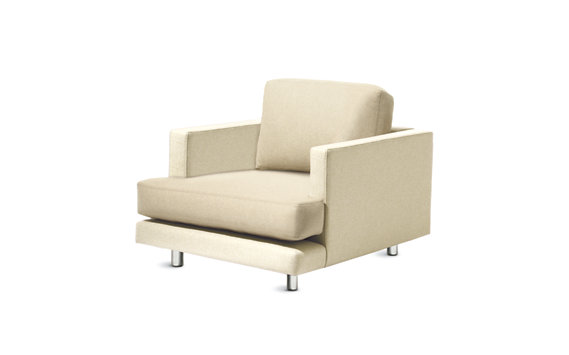 D%27Urso Lounge Chair in Leather and Fabric