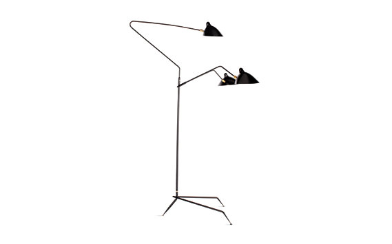 Serge mouille floor lamp 3 arms none design within reach Serge mouille three arm floor lamp