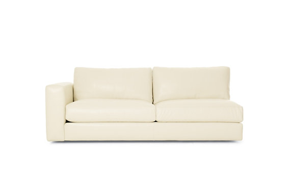 Reid One-Arm Sofa, Left in Leather