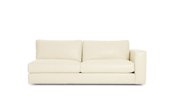 Reid One-Arm Sofa, Right in Leather