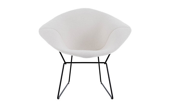 Bertoia Diamond Lounge Chair with Full Cover in Classic Bouclé