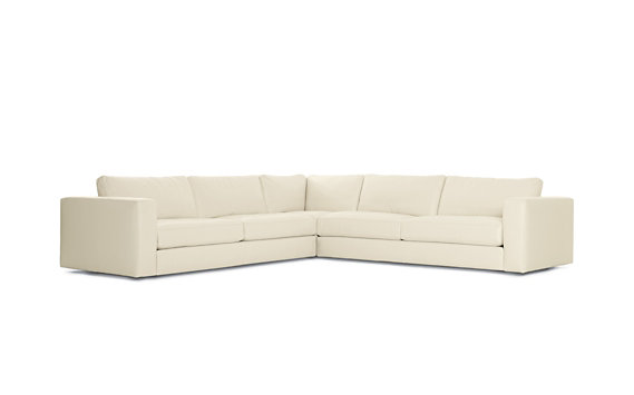 Reid Corner Sectional in Leather