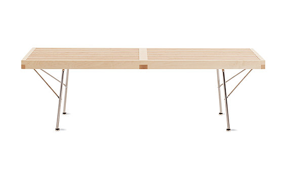 "Nelson™ Platform Bench, 48"" with Metal Legs"