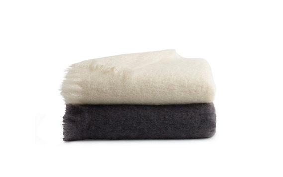 Mohair Blanket in Cream