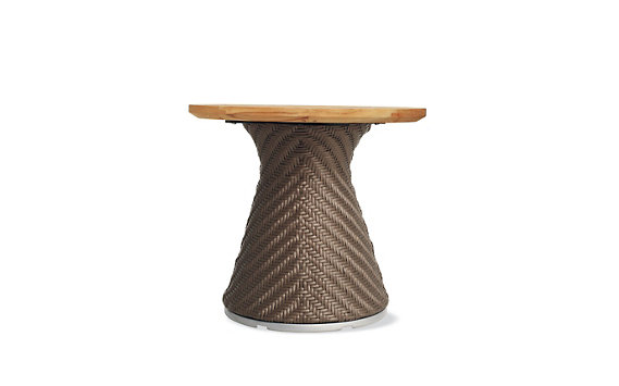 Scoop Side Table with Teak Top