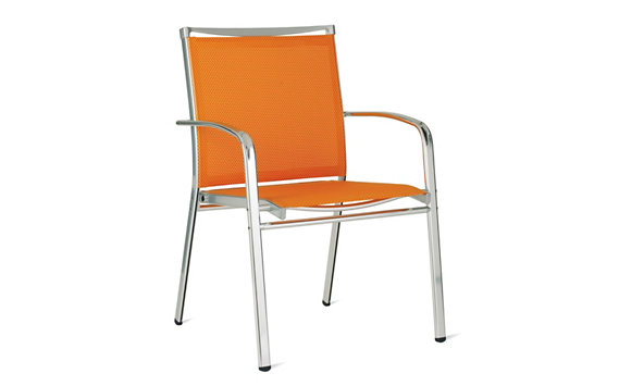 Lucca Dining Armchair in Triple-Twist Weave