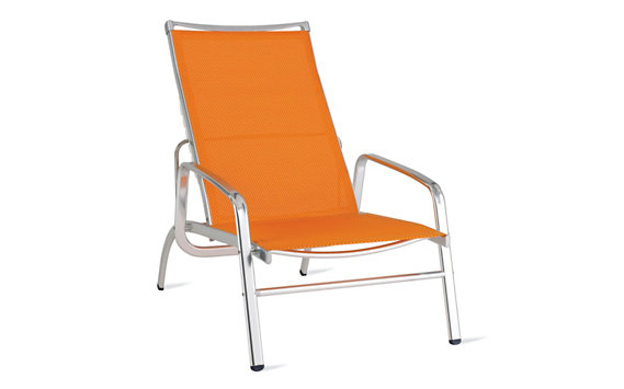 Lucca Adjustable Lounge Armchair in Triple-Twist Weave