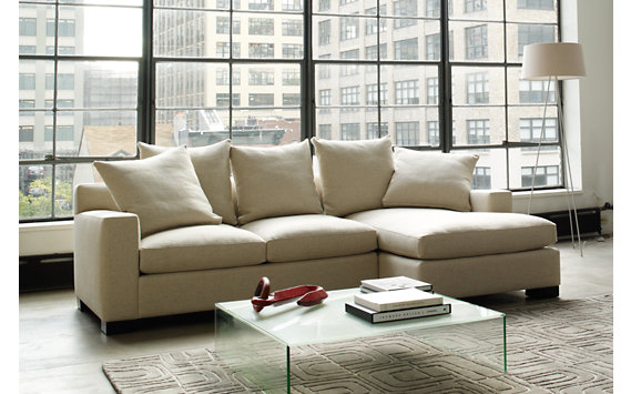Muse Sectional Chaise Right in Fabric C