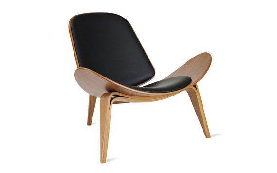 Shell Chair - Walnut - Leather (Thor)