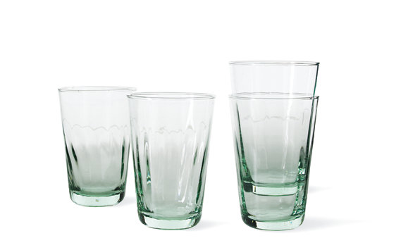 Recycled Glass Glasses (Set of 4)