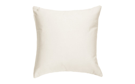 "18"" Sunbrella Throw Pillow in Linen Fabric"