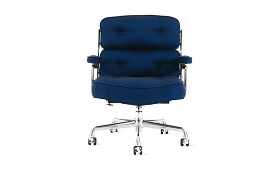 Eames® Chair, Messenger Fabric, Polished Aluminum Legs