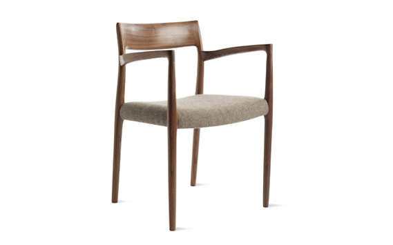 Møller Model 57 Armchair in Walnut with Hallingdal Seat