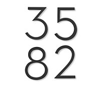 Neutra Modern House Numbers in Black