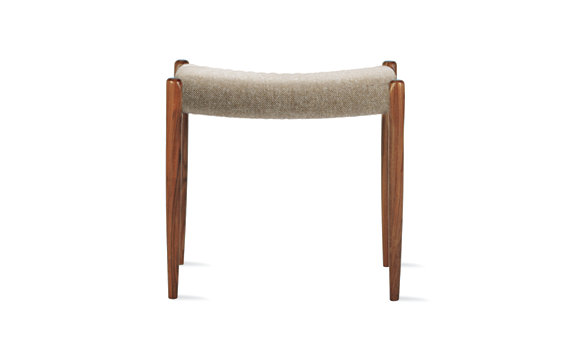 Møller Model 80A Stool in Walnut and Hallingdal
