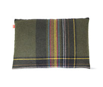 Maharam DWR Pillow in Exaggerated Plaid (Glen)