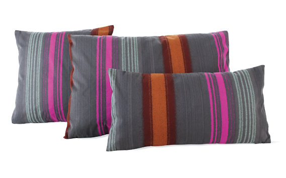 "Maharam DWR Pillow, 17"" x 17"" in Painted Stripe (Tempera)"