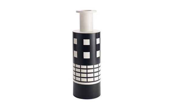 Sottsass Black-and-White Vase
