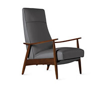 Milo Baughman Recliner 74 in Leather