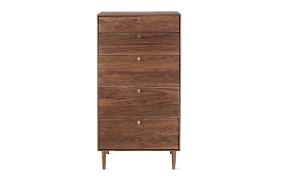 American Modern 5-Drawer Dresser in Walnut