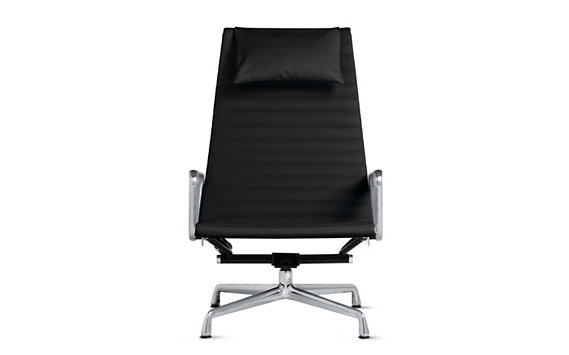 Eames Aluminum Lounge, Vicenza Leather