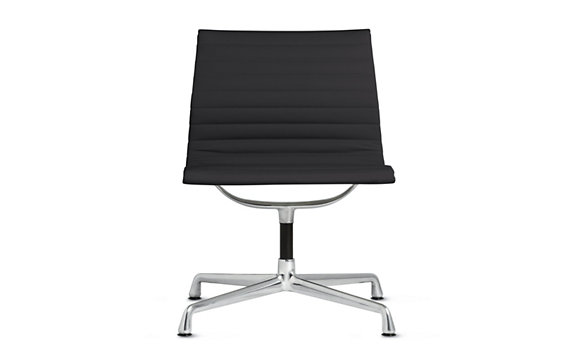 Eames Aluminum Side Chair - Vicenza Leather