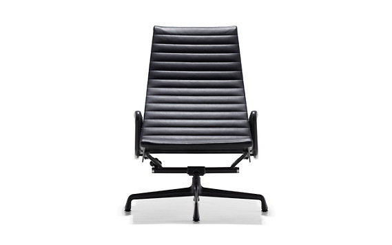 Eames® Aluminum Lounge Chair with Powder-Coated Frame
