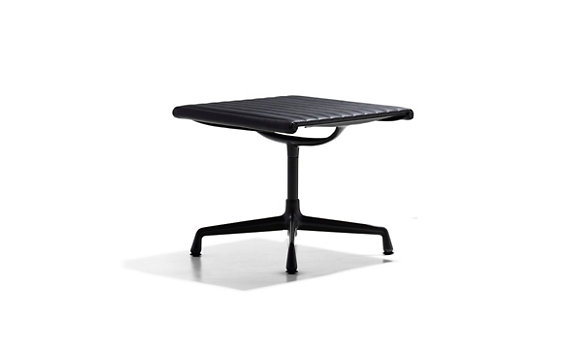 Eames® Aluminum Ottoman with Powder-Coated Frame