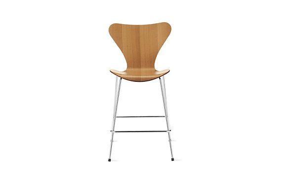 Series 7™ Counter Stool in Natural Veneer