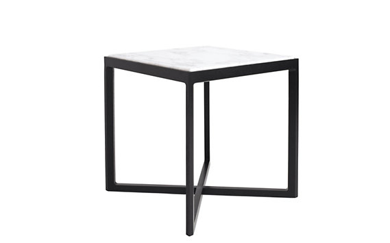 Krusin Side Table with Marble Tabletop