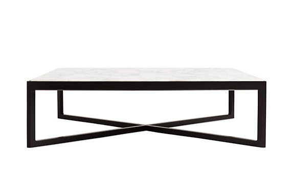 Krusin Coffee Table with Marble Tabletop
