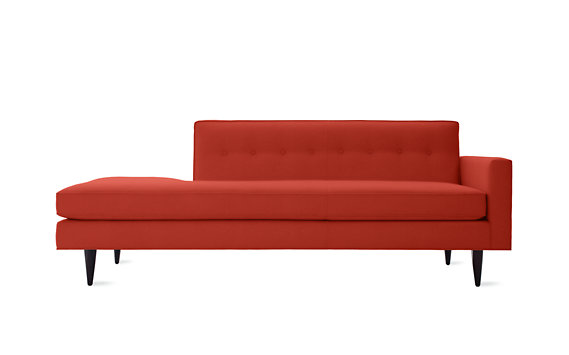 Bantam Studio Sofa, Right in Basket Fabric