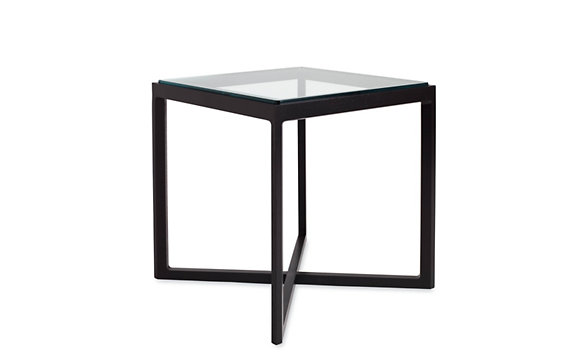 Krusin Side Table with Glass Tabletop