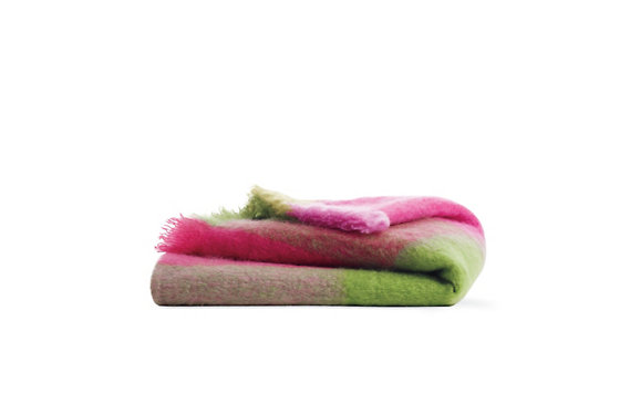 Mohair Throw in Pink Multicolor