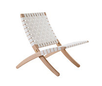 Cuba Lounge Chair in Soaped Oak