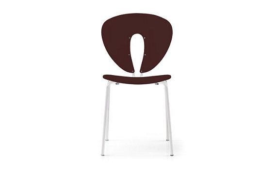 Globus Chair in Plastic with Polished Frame, Set of 4