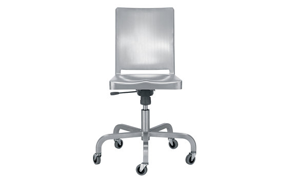 Hudson Armless Task Chair, Brushed