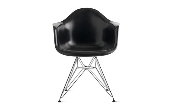 Eames® Molded Fiberglass Wire-Base Armchair (DFAR), Chrome