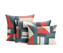 Abstract Pillow, Red