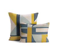 Abstract Pillow, Yellow
