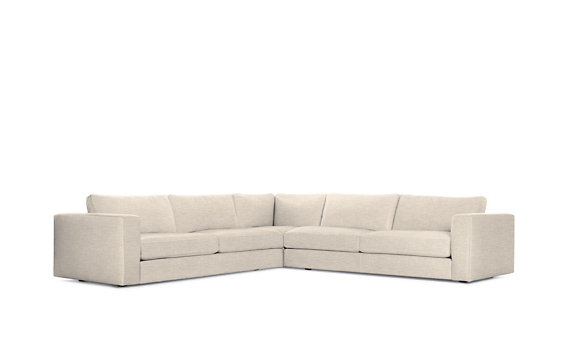 Reid Corner Sectional, Basket Weave