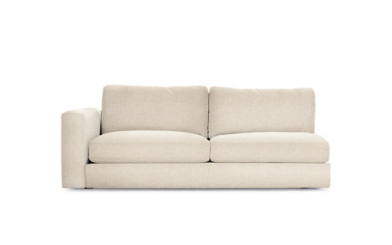 Reid One-Arm Sofa Left, Basket Weave